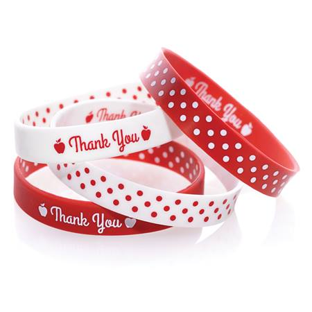 Two Way Wristband - Thank You Polka Dots, Assortment, 25/pkg
