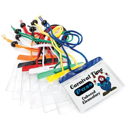 ID Badge Holders With Colored Strip 10/2