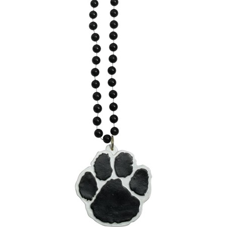 Black Paw Medallion Necklace